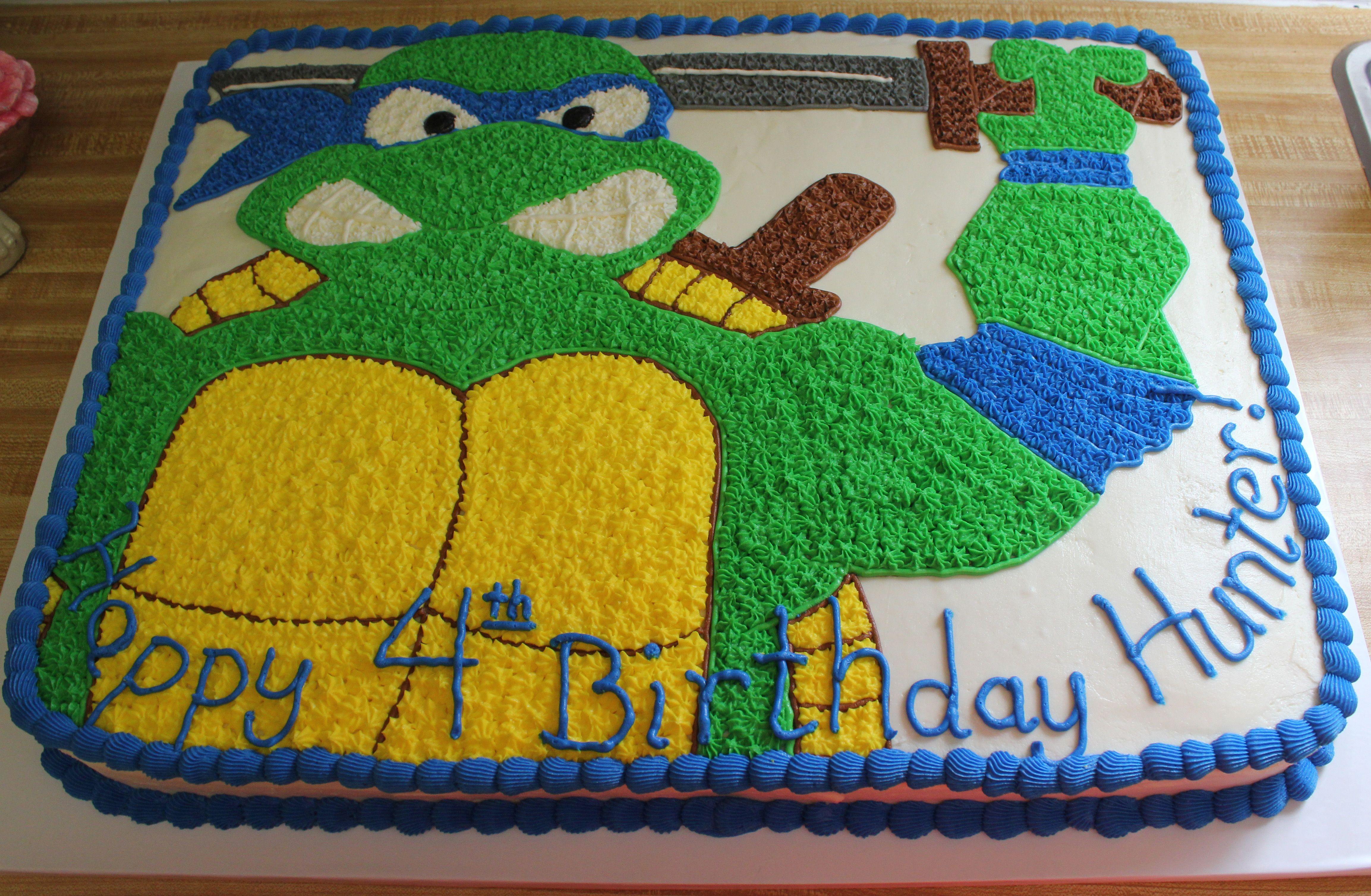 Teenage Mutant Ninja Turtles sheet cake by Susans Cake Studio My