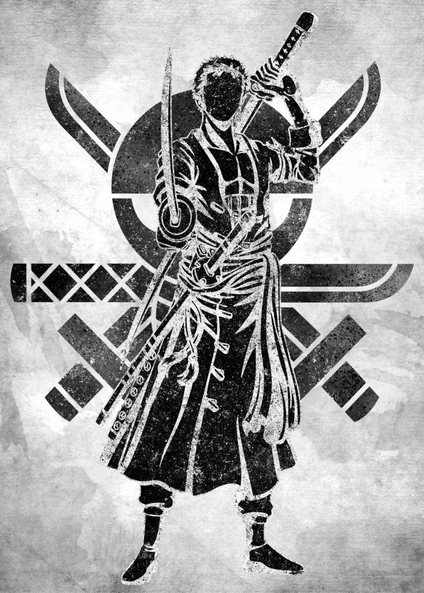 'Zoro' Metal Poster - Eternal Art | Displate