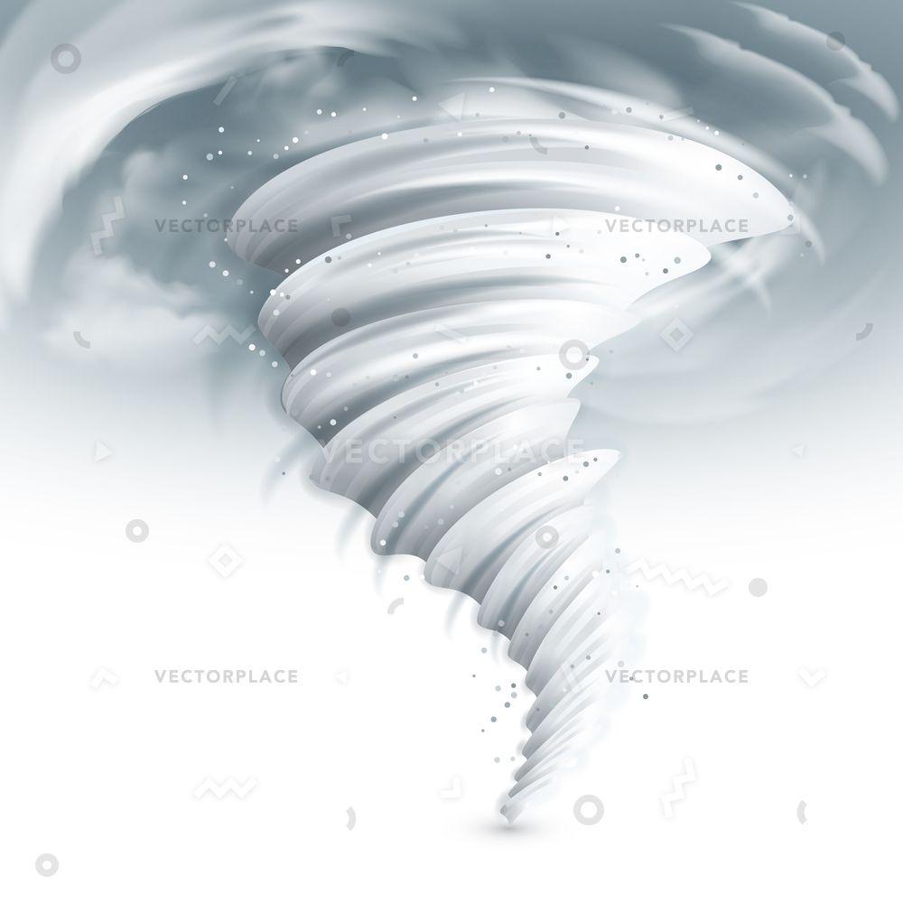 Realistic Tornado Swirl With Dark Clouds In Sky Vector Illustration Tornado Tattoo Tornado Storm Tattoo