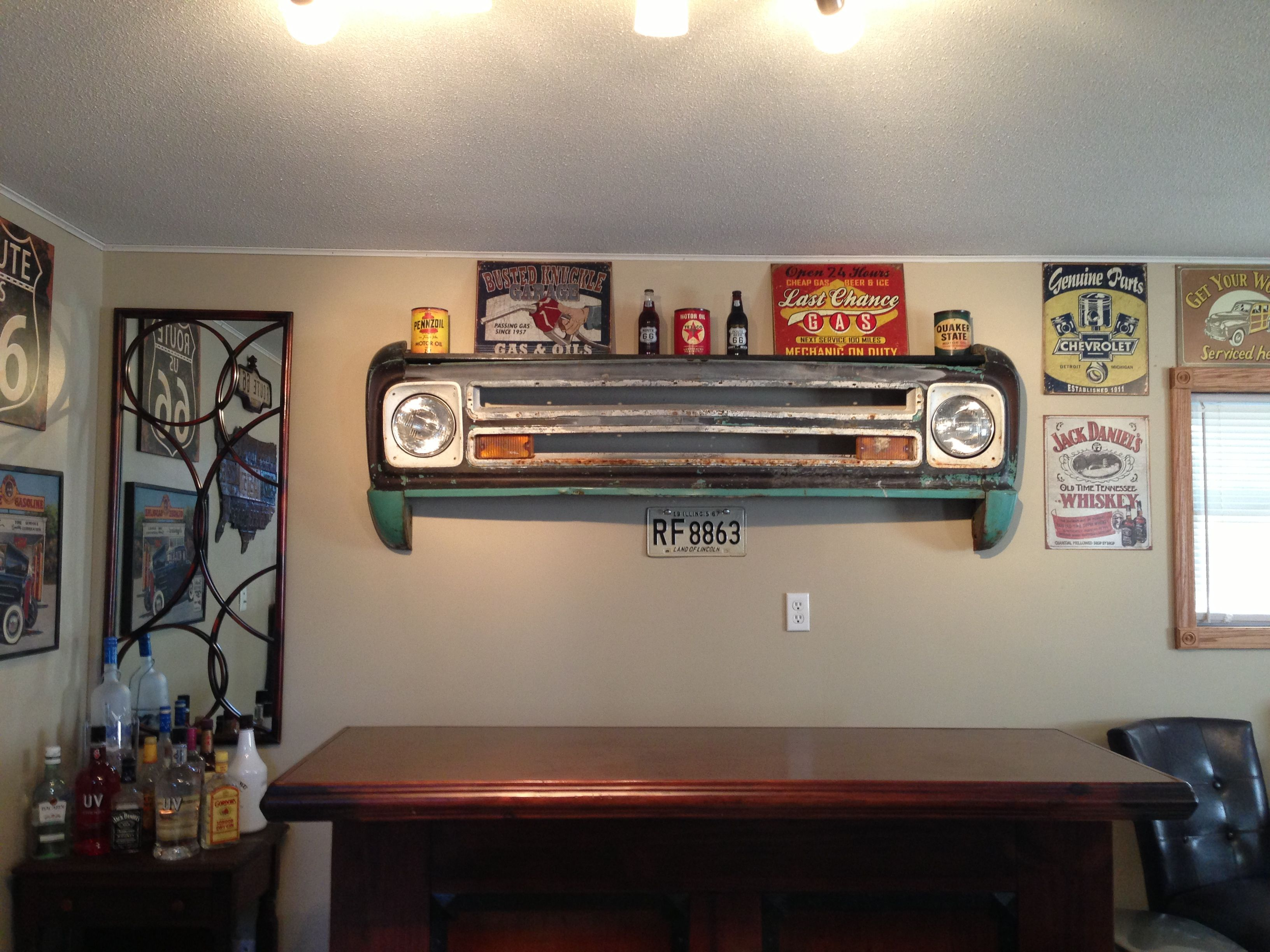 Wall shelf made from 1967 Cheverolet. Home Pinterest