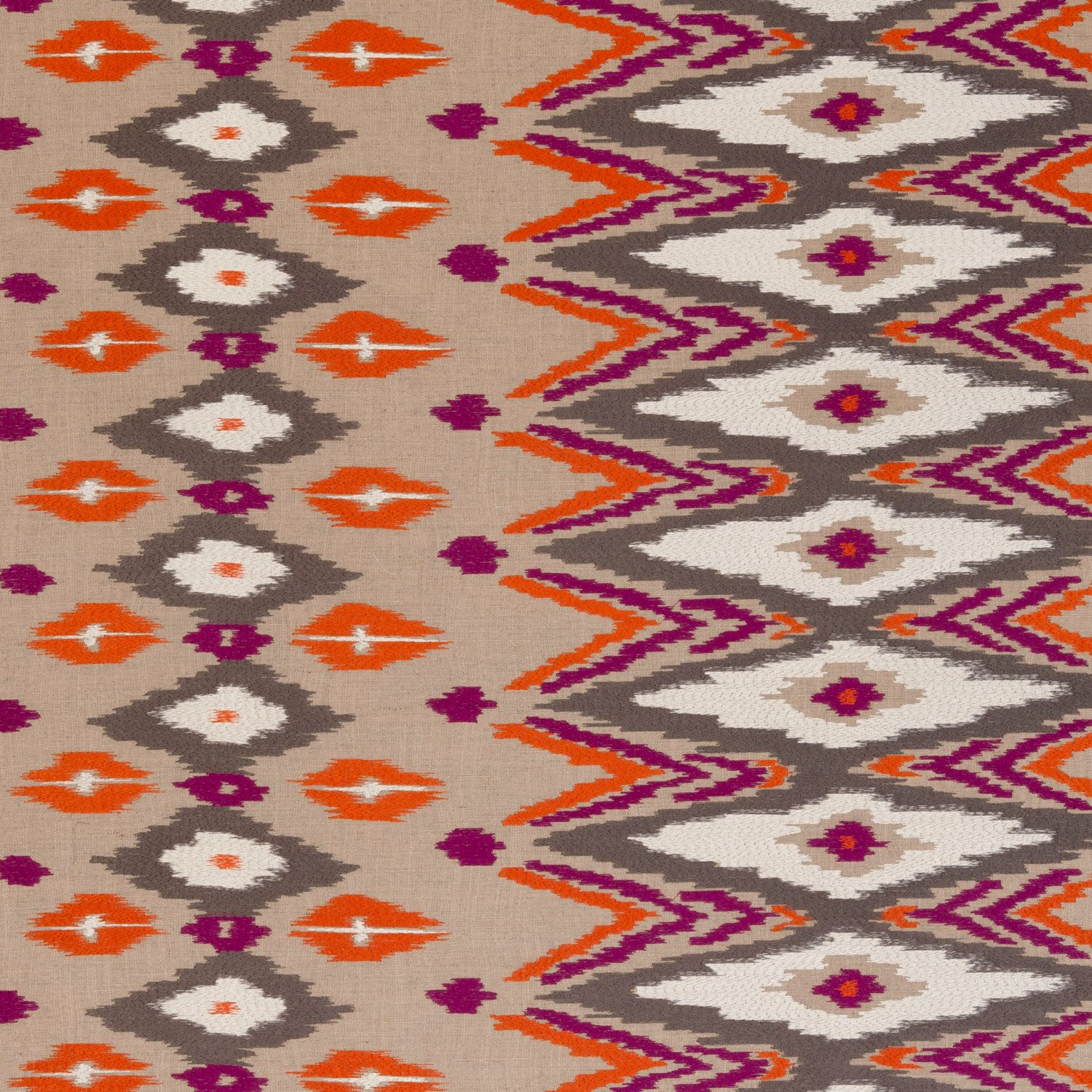 Orange Kilim Upholstery Purple Fabric By Popdecorfabrics