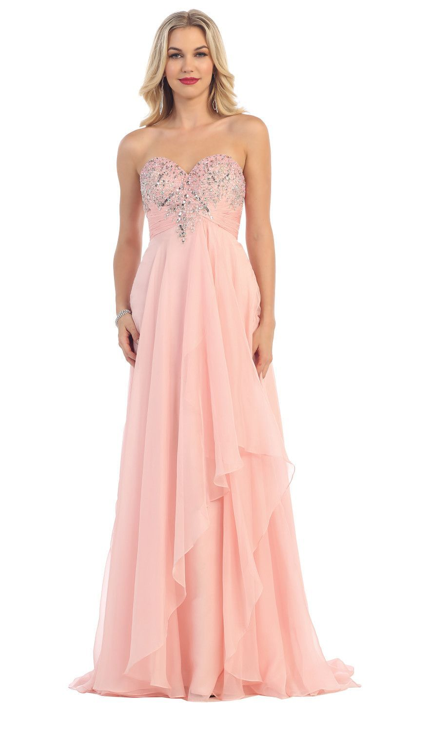 Long Prom Dress Evening Plus Size Formal 2018 | Pinterest