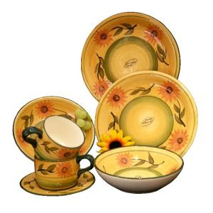 Sunflower Kitchen Decor Discontinued Items | 16pc country Sunflower dinnerware set it is just what I  sc 1 st  Pinterest & Sunflower Kitchen Decor Discontinued Items | 16pc country Sunflower ...