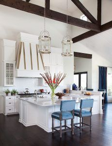 Kitchen high ceiling. How to design cabinets with high