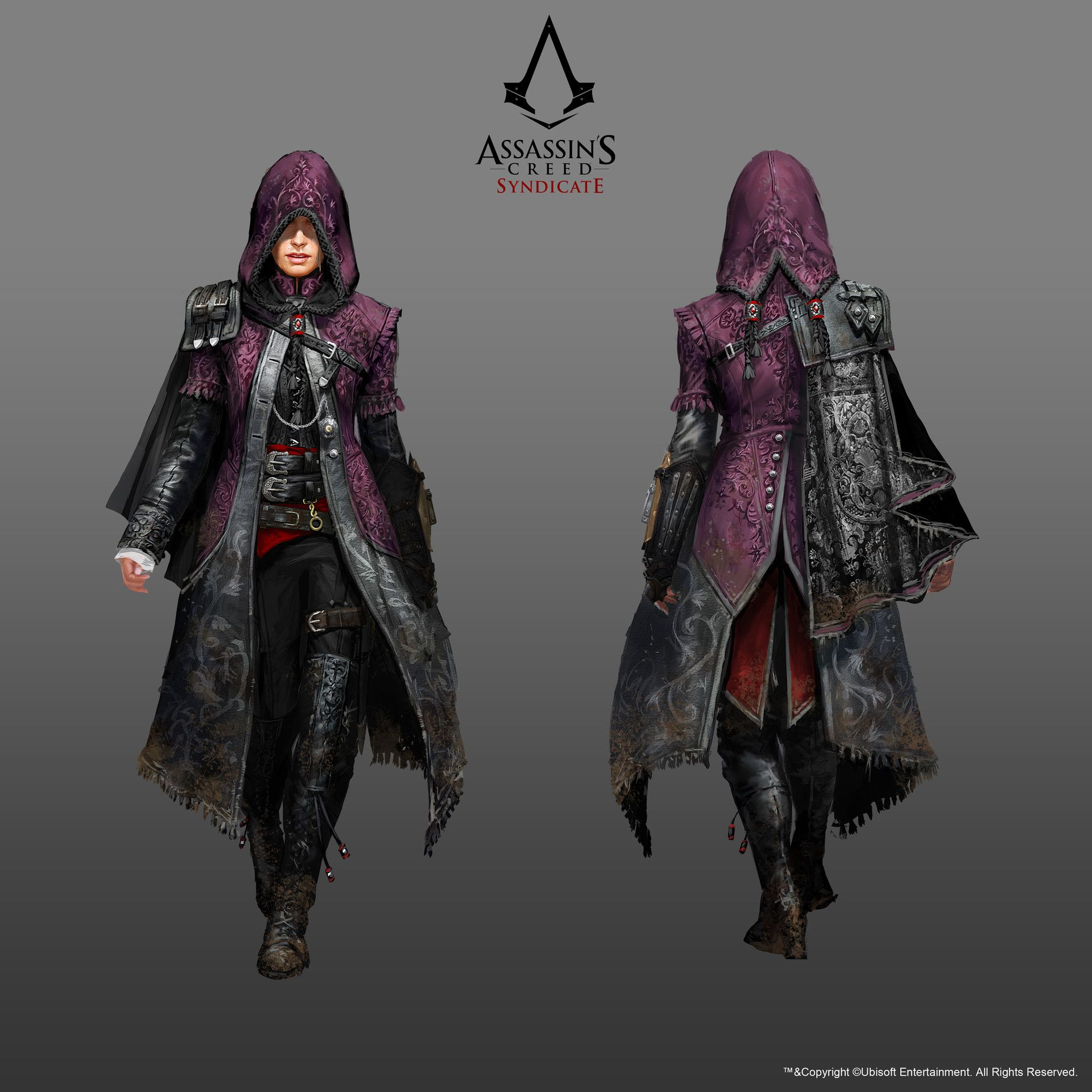Evie in her Master Assassin outfit Initial sketches of Evie Evie in her standard Assassin attire...