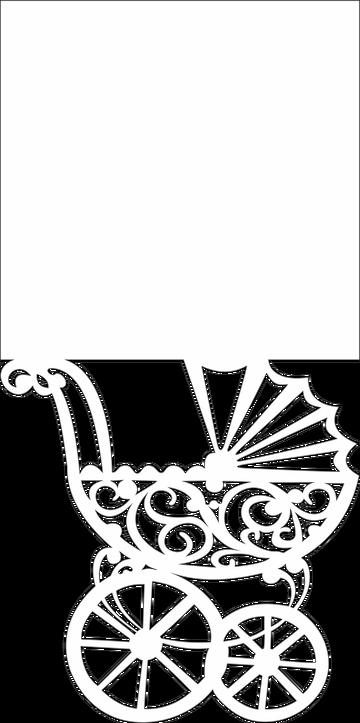 Шаблон для коляски на открытку