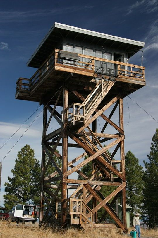 Five mile butte lookout fire tower outdoorsy escape for Lookout tower house
