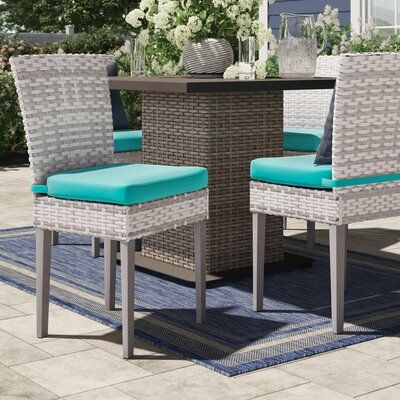 Sol 72 Outdoor Falmouth Patio Dining Chair With Cushion Patio Dining Chairs Outdoor Dining Chairs Patio Chairs