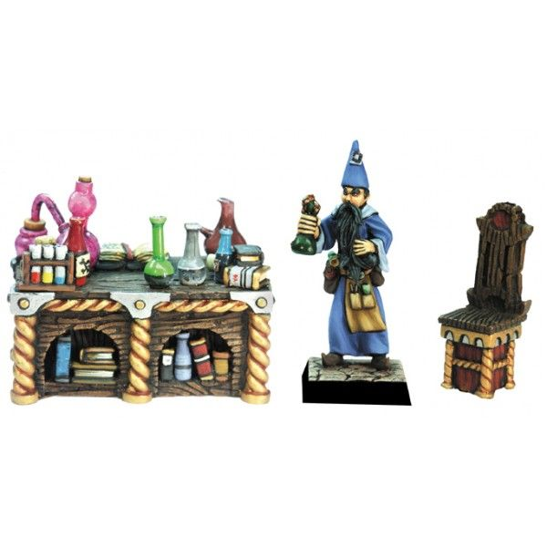 Alchemist & his desk
