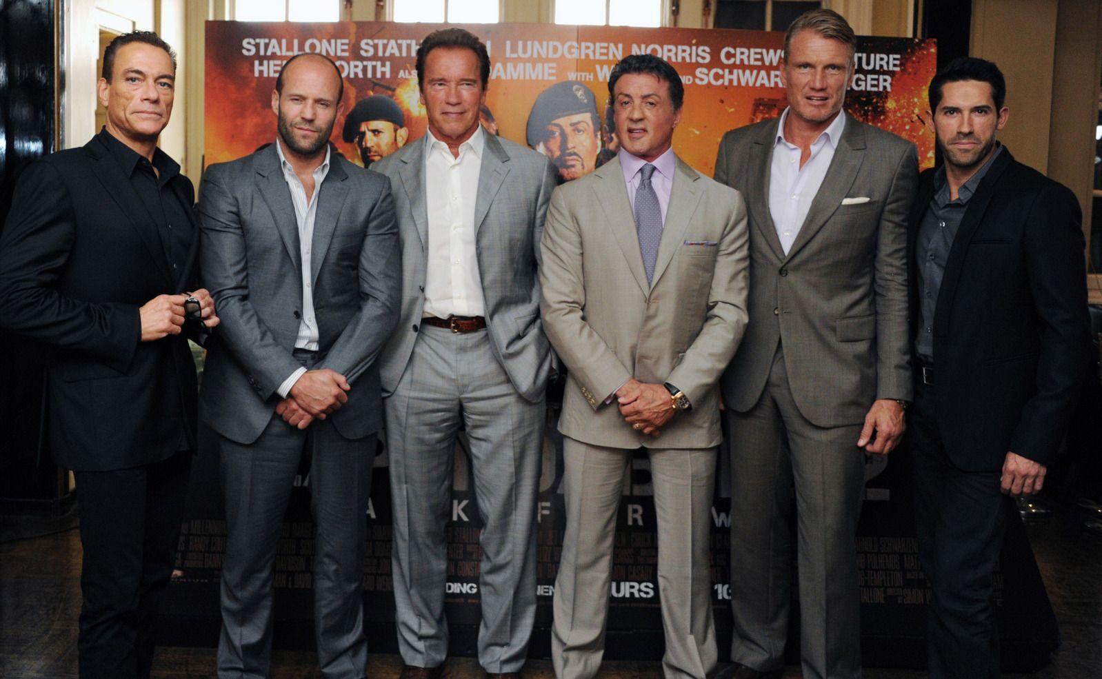 Jean-Claude Van Damme, Jason Statham, Arnold Schwarzenegger ...
