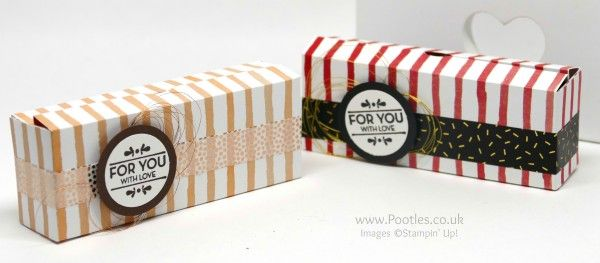 Stampin' up! Demonstrator Pootles - 6x6 Cute Box using Stampin' Up! Fruit Stand Paper