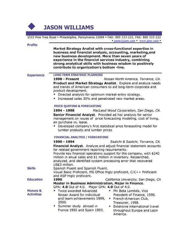 11 Sample Resume Template | Riez Sample Resumes | Riez Sample ...