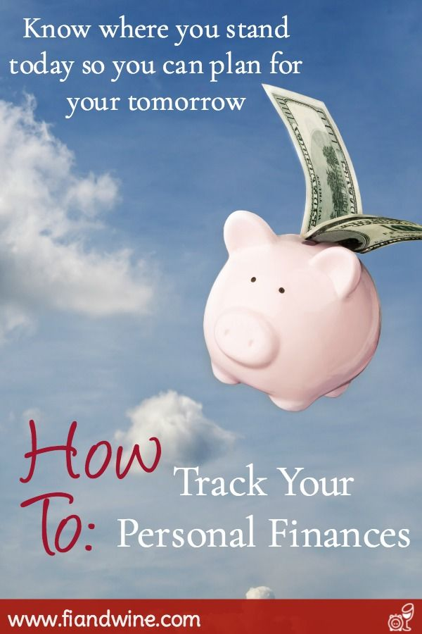 How To Track Your Personal Finances Money Saving