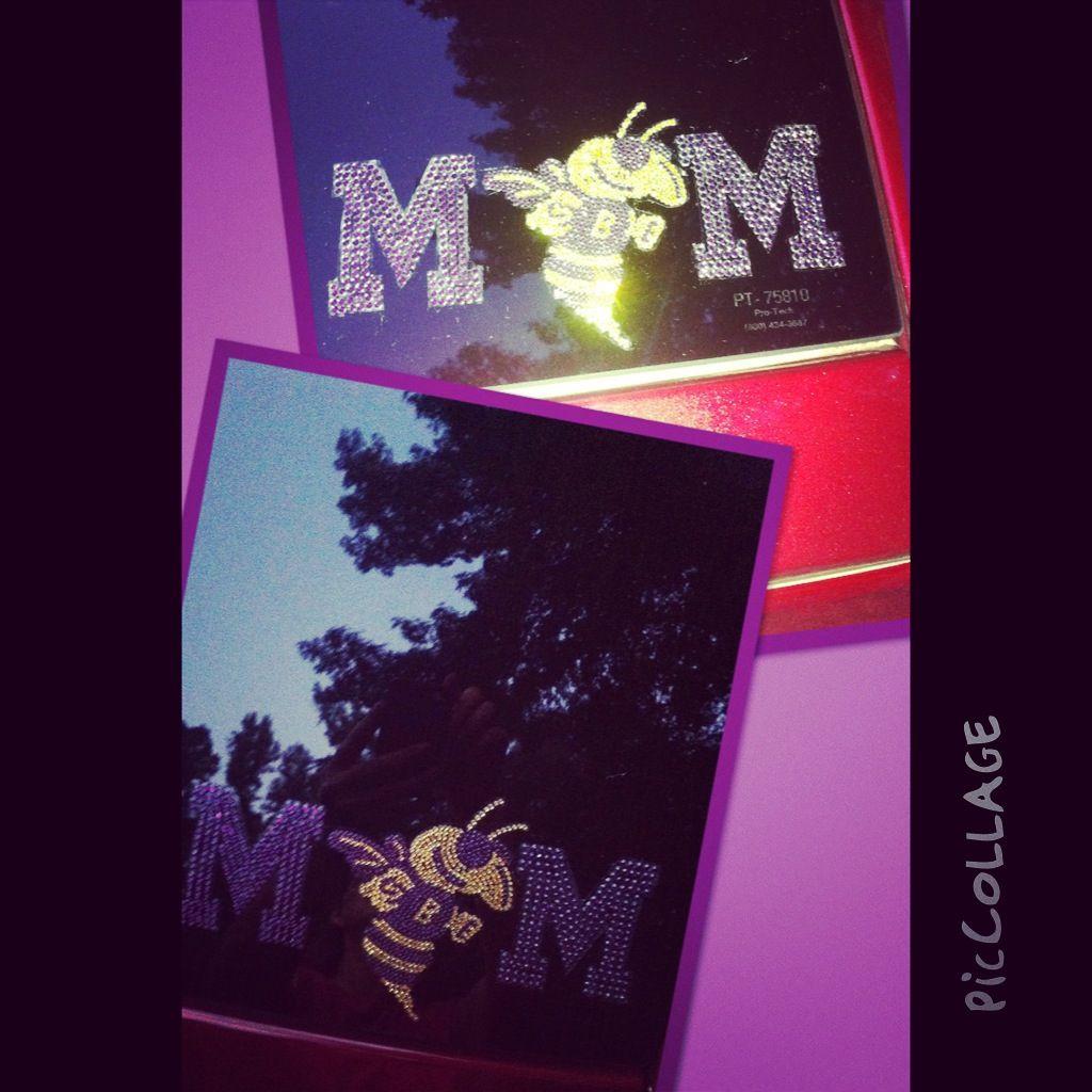 Bling car decal! #jacketmom #cebyrd #byrdmom #purpleandgold #bling