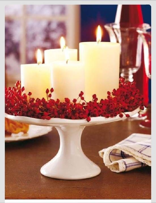Amazing Candles Table Centerpiece Pinterest Christmas Ideas And Crafts Christmas Centerpieces Christmas Time Christmas Decorations
