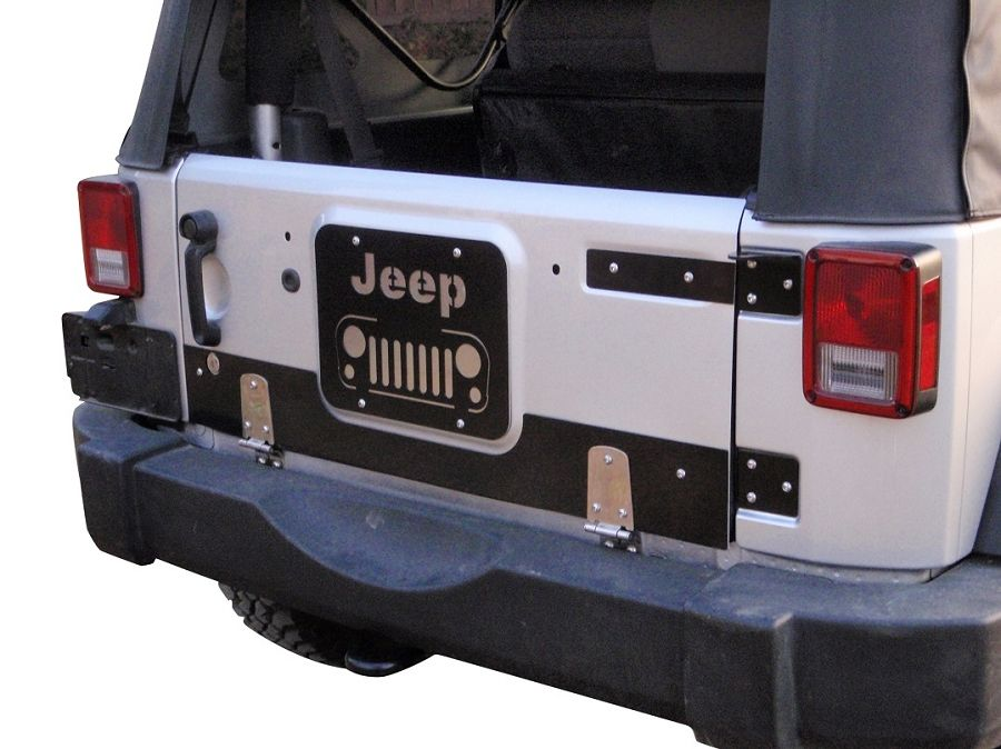 jk drop down tailgate conversion kit with vent cover
