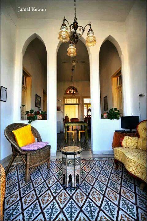 Palestinian Architecture · Palestine ArtIslamic ArchitectureArchitecture  InteriorsConcrete PatioTraditional HouseMiddle ...