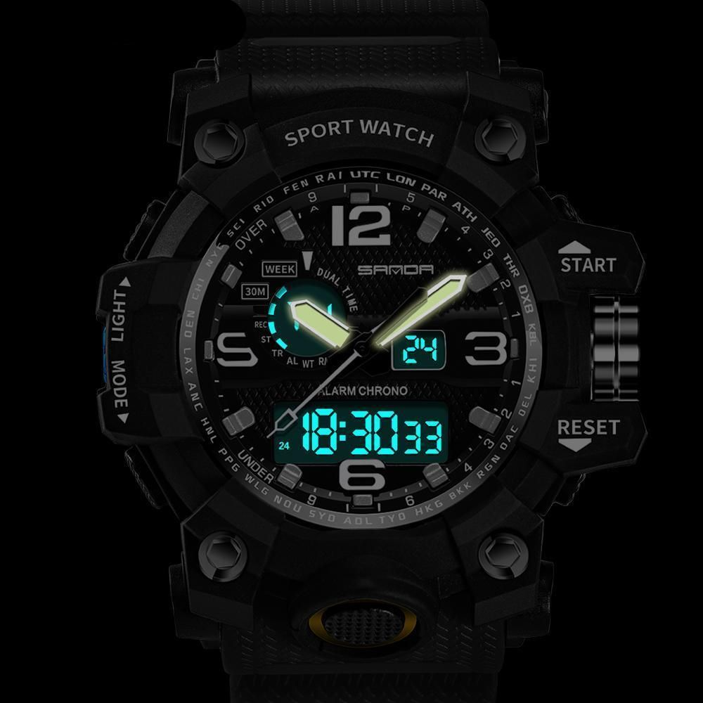 LED Display and Multifunctional Digital Watch Sport