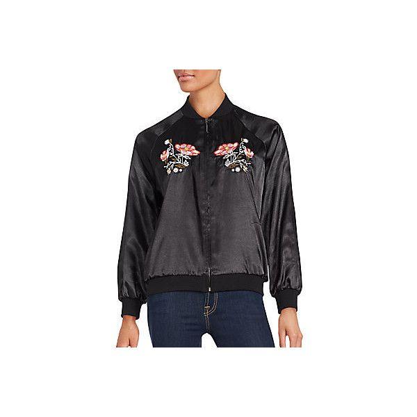 12d06fac4 Saks Fifth Avenue RED Floral Motif Bomber Jacket (1401200 BYR ...