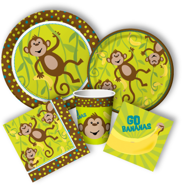 monkey party supplies kids rooms Pinterest Monkey Birthdays
