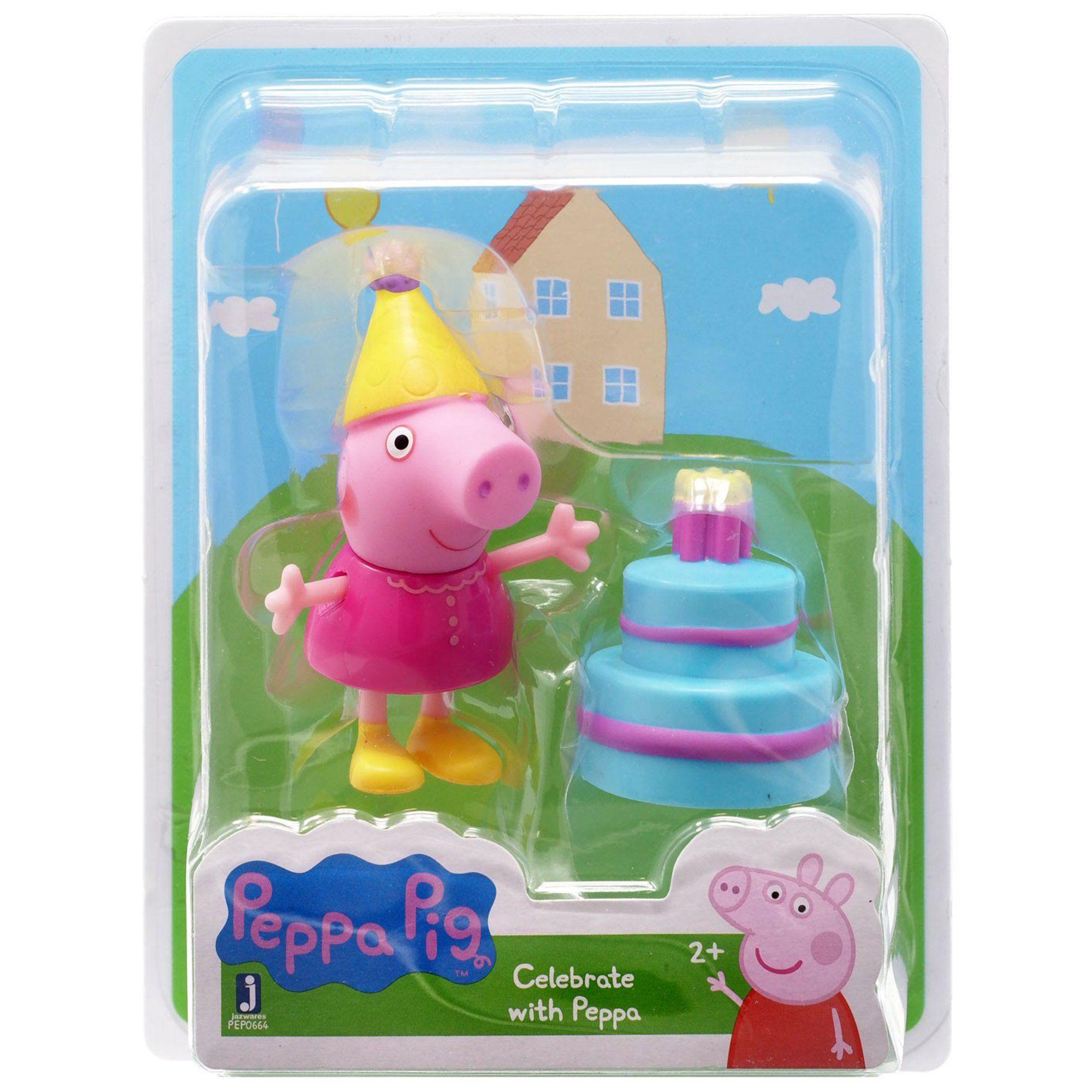 Peppa pig celebrate with peppa mini figure