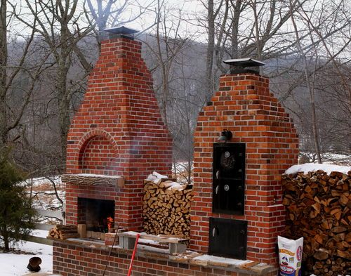 Brick Smoker Compete How To Brick Smoker Backyard Smokers Backyard Kitchen