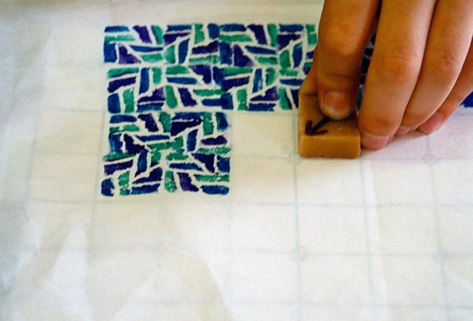Use Erasers And Watercolor Markers To Make Relief Prints With Surprising Results For Ages 9 To