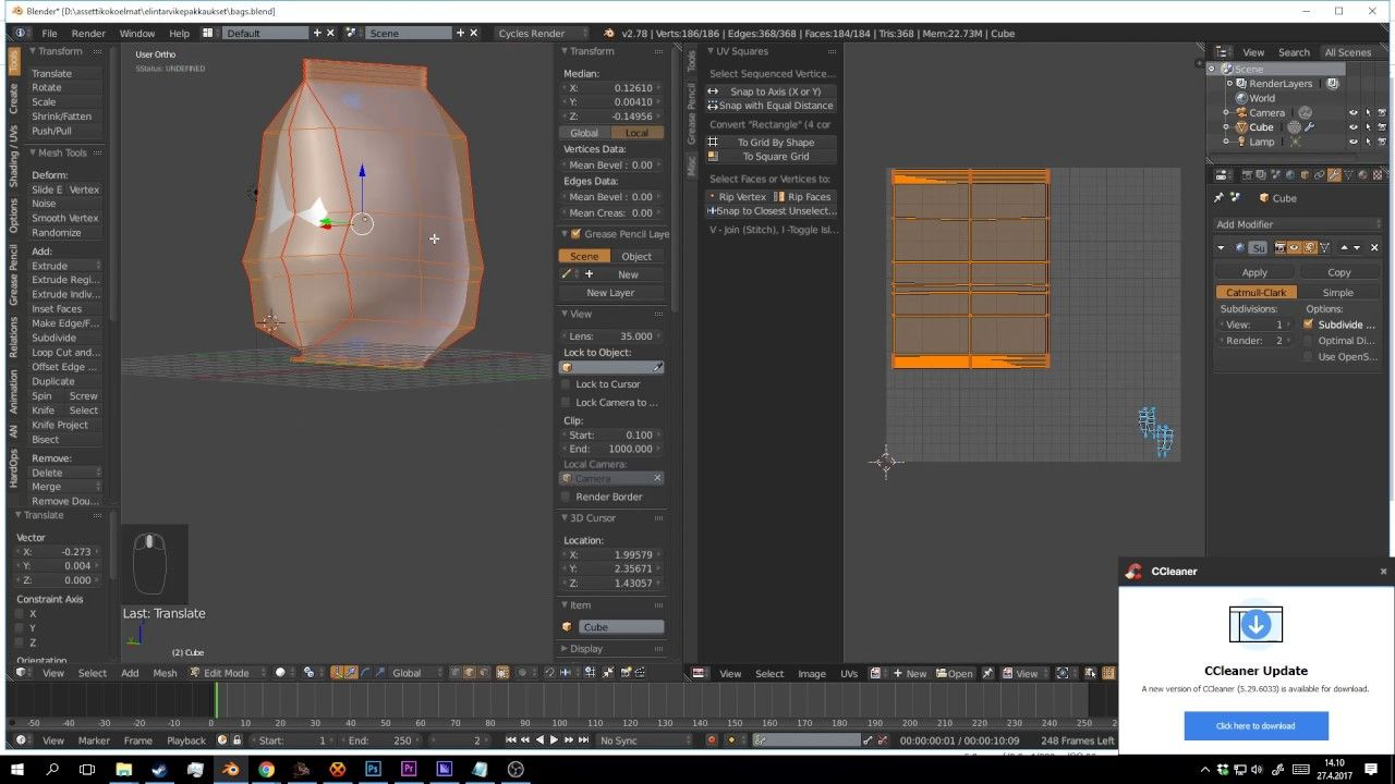 Tutorial: Design packages in Blender and Photoshop   Blender