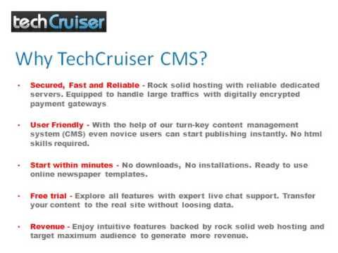 Tech Cruiser Offers 10 Day Free Trial of its Revolutionary - online newspaper template