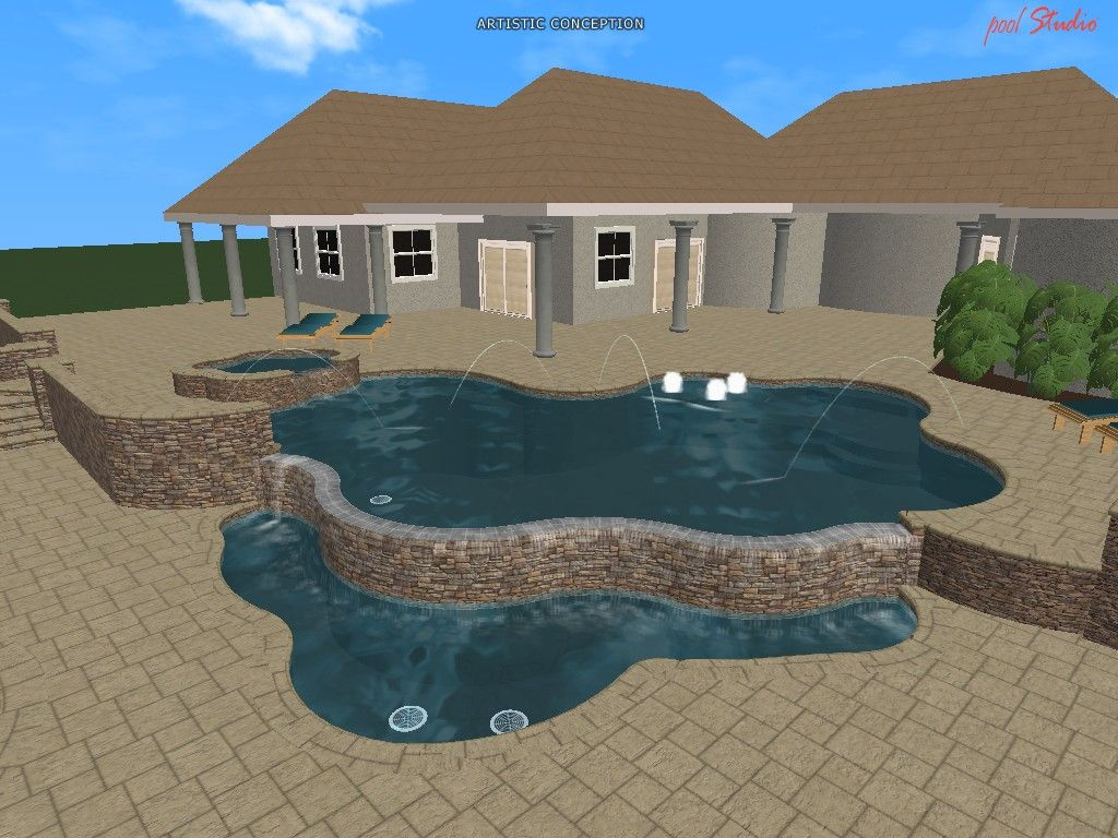 20 Free Swimming Pool Templates For Your Pool Design Software Landscape Design Software Software Design Pool Designs