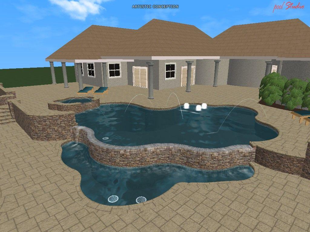 3d Pool Design Swimming Pool Design Software Swimming Pool Designs 3d Pool Pool Designs
