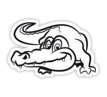 Crocodile cool sunglasses Sticker