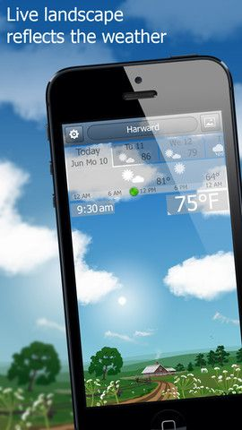 Today's #appoftheday is #YoWindow #app - it's a living landscape that reflects your actual weather. YoWindow is a surprisingly useful app that also looks good. With its several landscapes and nifty weather visualizations, it provides a unique way of checking the forecast. P. S. I like the sounds of the app: rain, birds etc.
