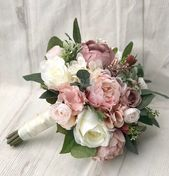 Hochzeitsstrauß, Dusty Rose Brautstrauß, Blush Hochzeitsstrauß, Pfingstrosenstrauß, Mauve / D...