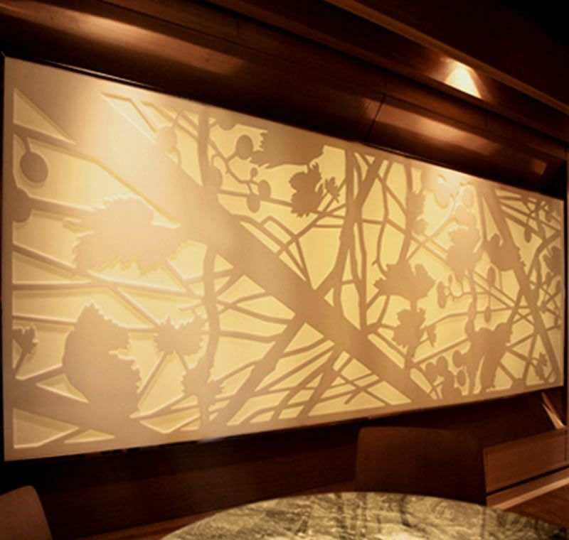 Interior decorating ideas laser cut art natasha webb wall for Interior paneling designs