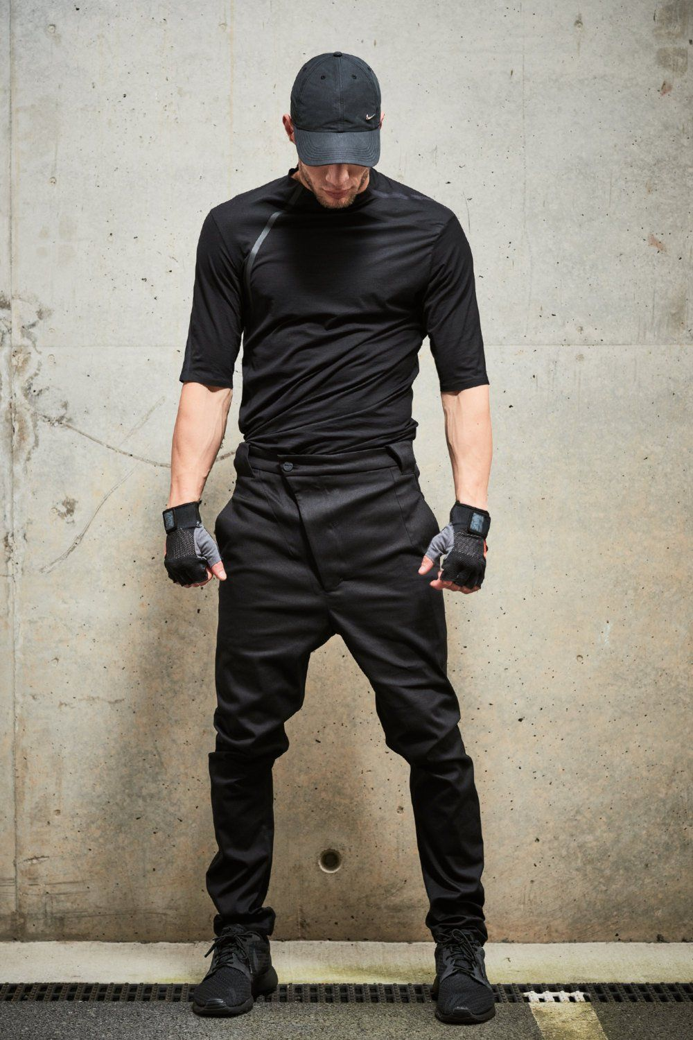Mens Black Modern Trousers / Cotton Black Pants / Asymmetrical Trousers / Mens Clothing / Mens Drop Crotch Pants / Urban Clothing by POWHA – tarz giyim