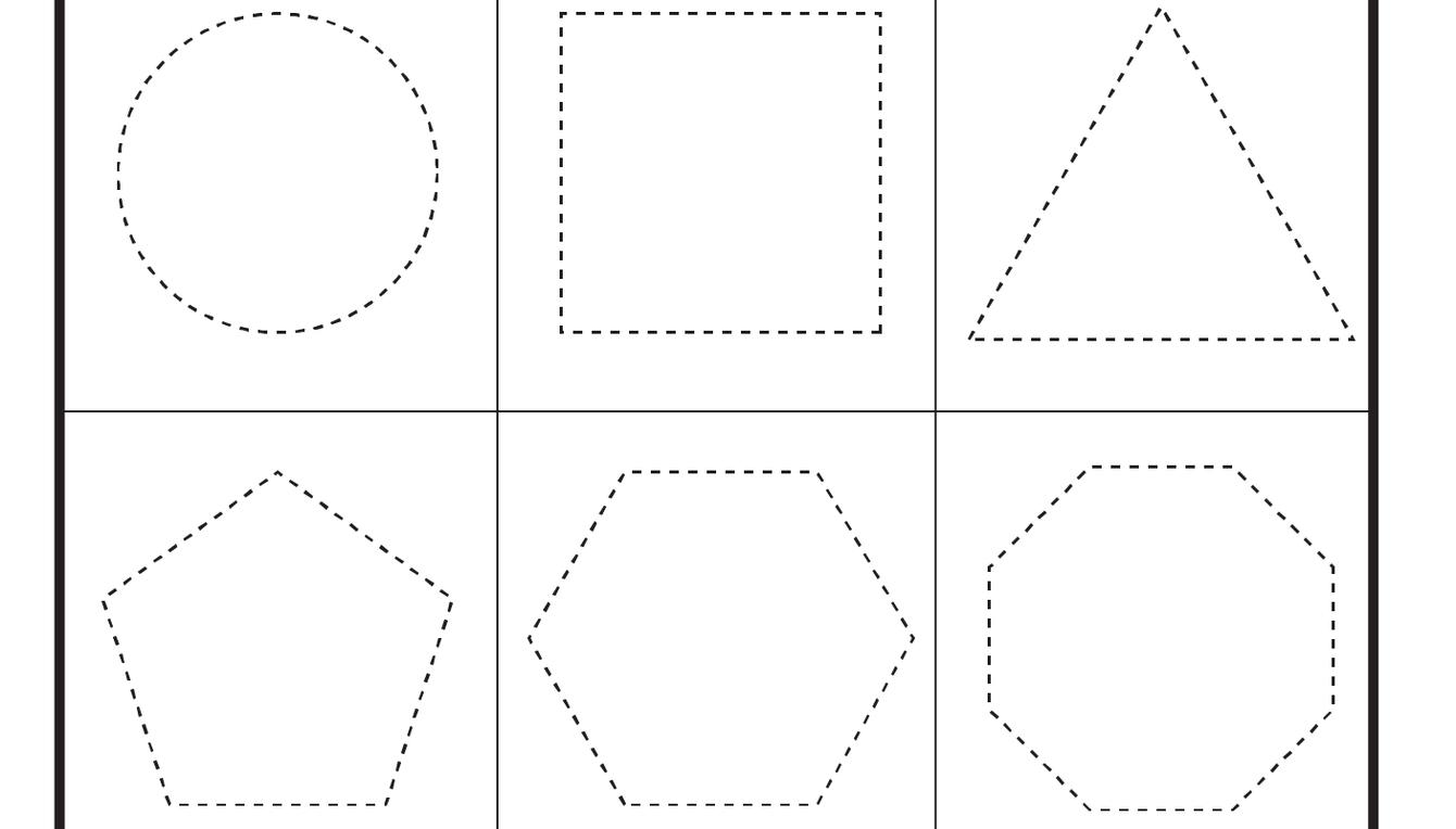 Preschool Shapes -Heart, Star, Circle, Square, Triangle, Pentagon ...