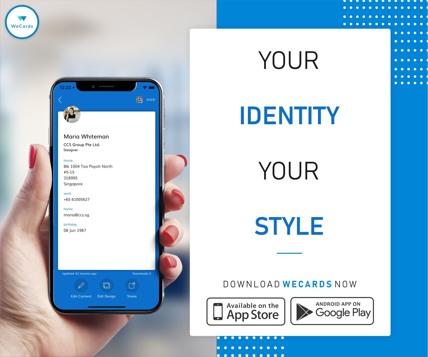 Your Business Card Reflects Who You Are What You Stand For And What You Do Your Personal Style Is A Digital Business Card Business Card App Digital Business
