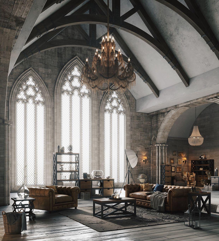 More Modern Gothic Loft Style Gothic House Gothic Interior