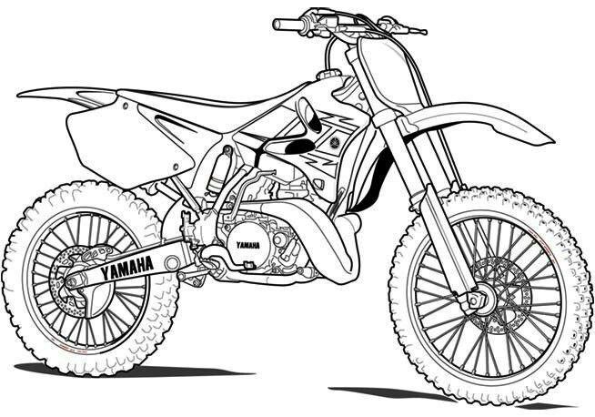 Moto Cross Comment Dessiner Une Moto Dessin Moto Facile Coloriage Moto