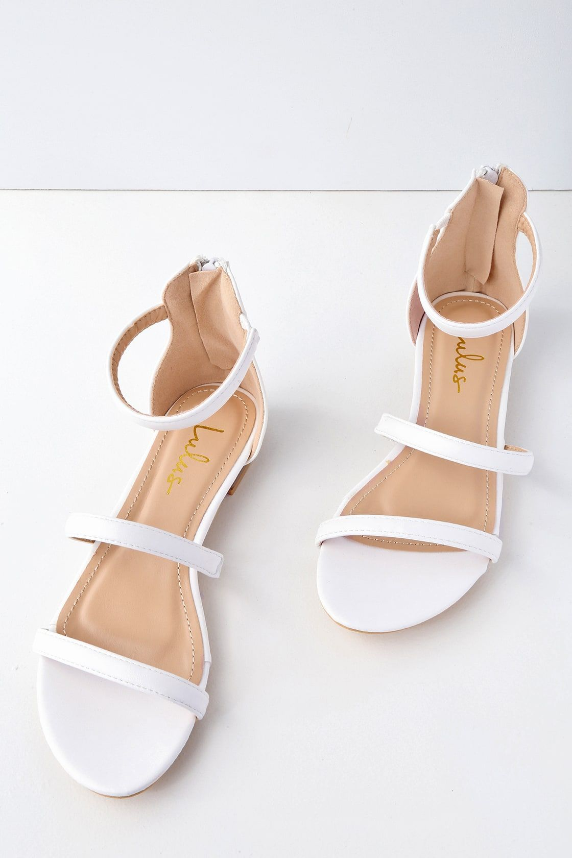 90582ebad Lulus | Quin White Flat Sandal Heels | Size 10 | Vegan Friendly in ...