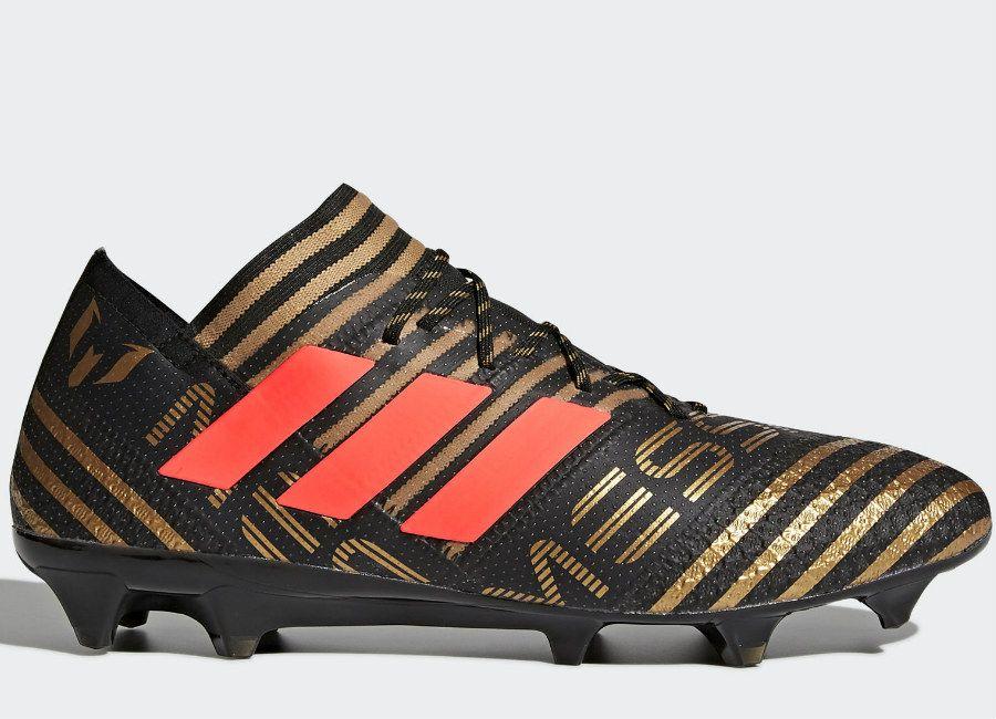 adidas Performance NEMEZIZ MESSI 17+ 360AGILITY FG - Chaussures de foot à crampons - core black / solar red / tactile gold metallic 6X3PXyB