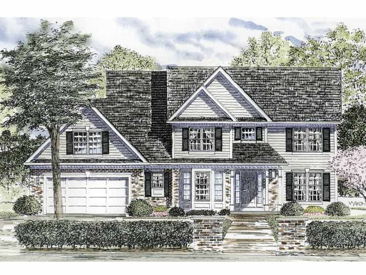 Colonial Style House Plan 4 Beds 2 5 Baths 2336 Sq Ft Plan 316 189 Colonial House Plans House Plans Colonial Style Homes