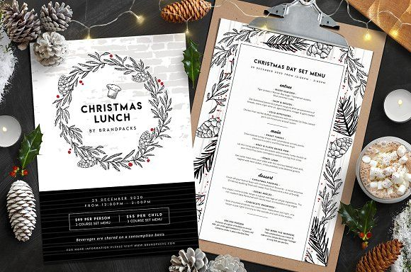 christmas menu templates menu templates template and graphic