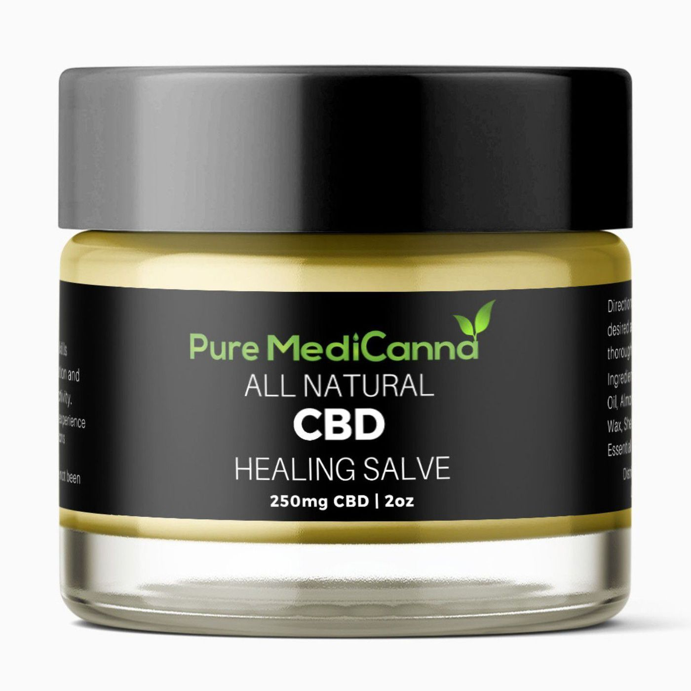 2oz CBD Topical Healing Salve 250mg | MMJ Cream Packaging