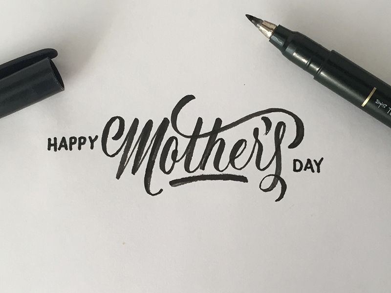 Mothers day beautiful hands blog and typography