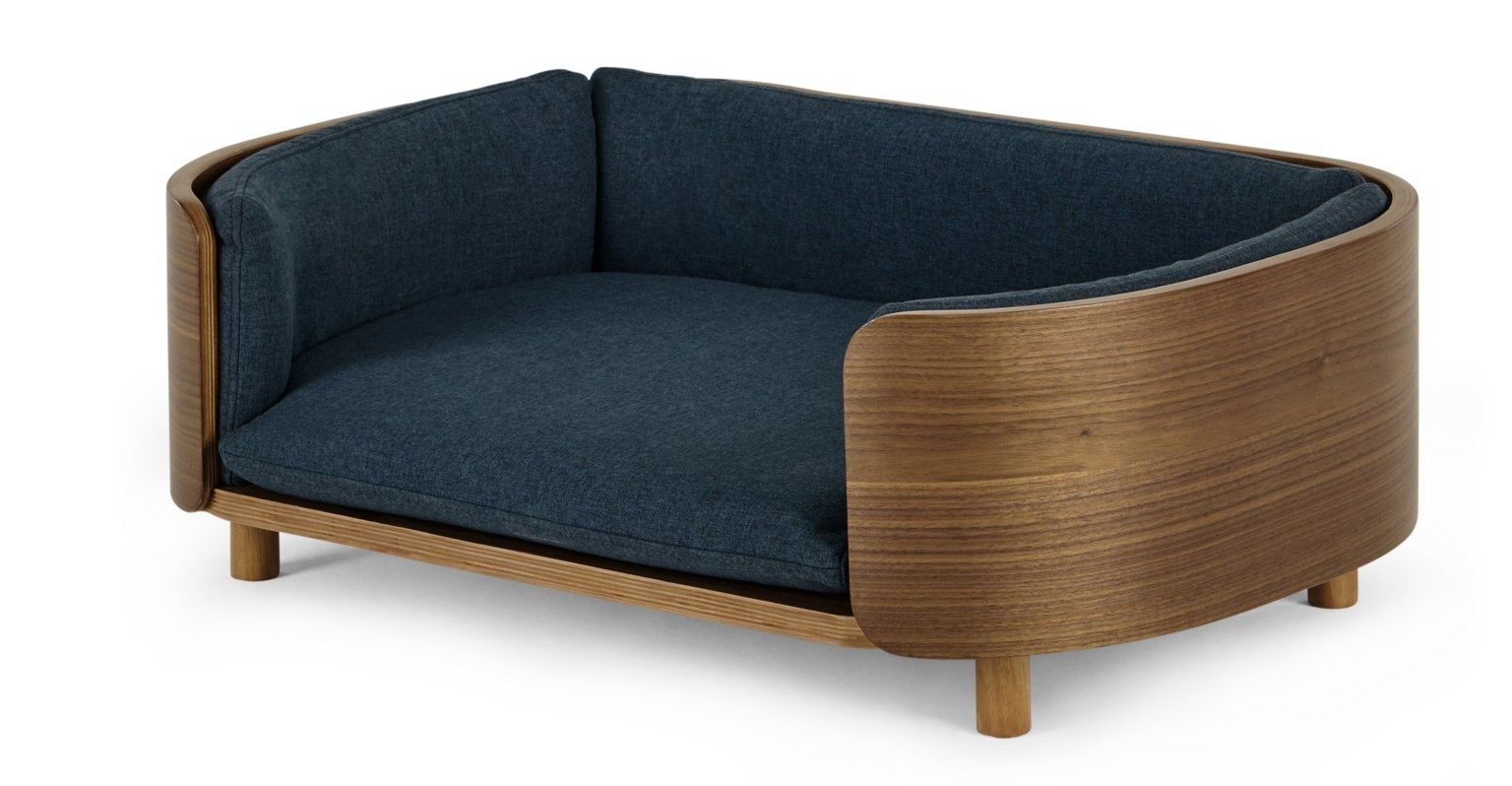 Kyali Dog Sofa, Natural Walnut and Navy, S/M in 2020 Dog
