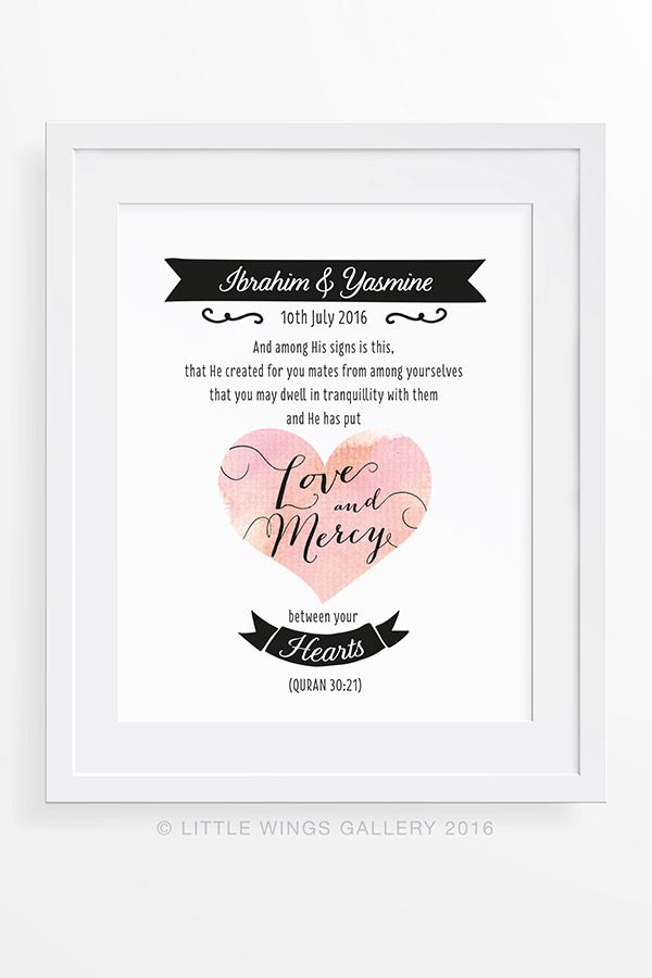 Anniversary wedding dates poster your own dates /& names print art love quote