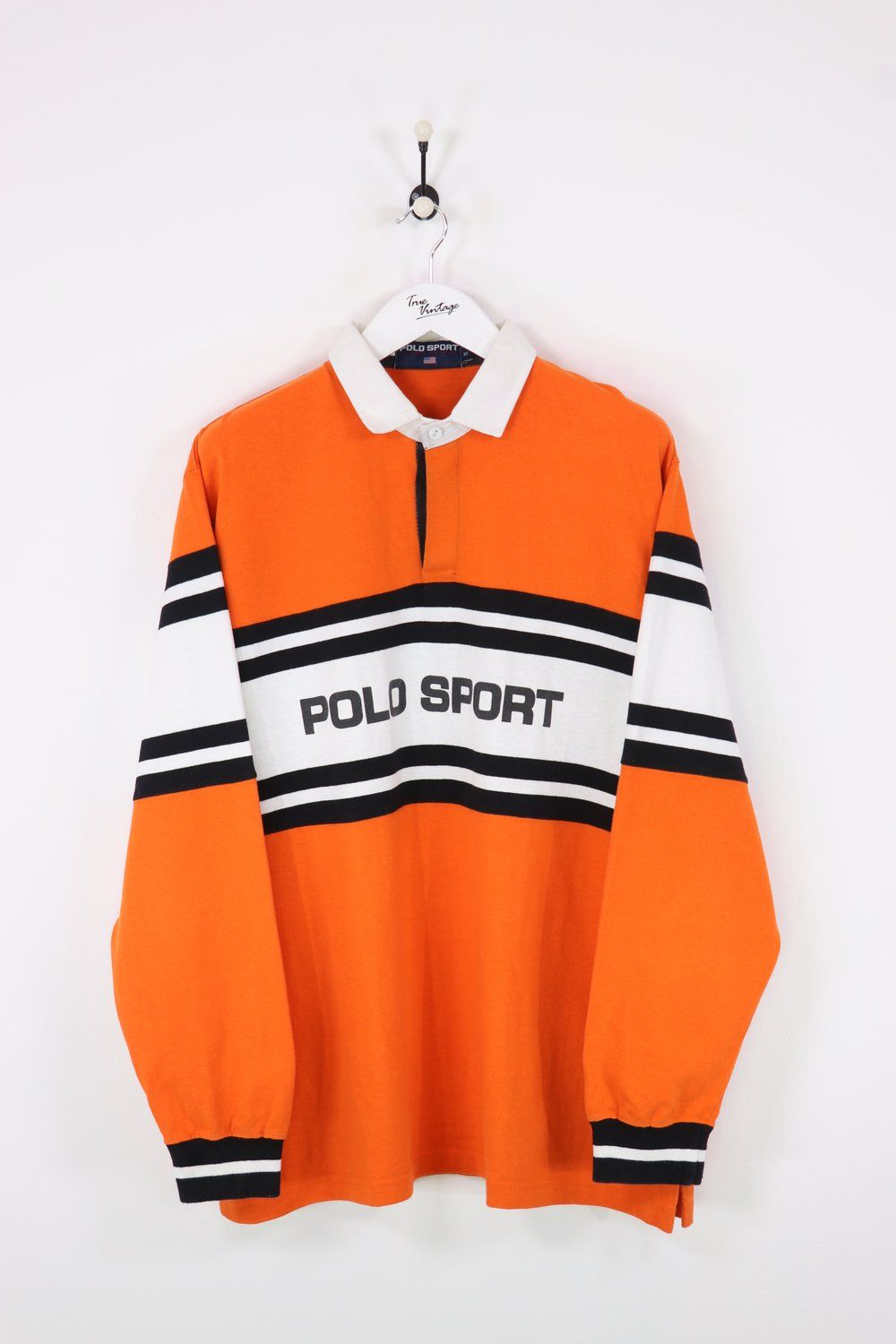 new products 758e6 b0087 Polo Sport Rugby Top OrangeWhite XXL