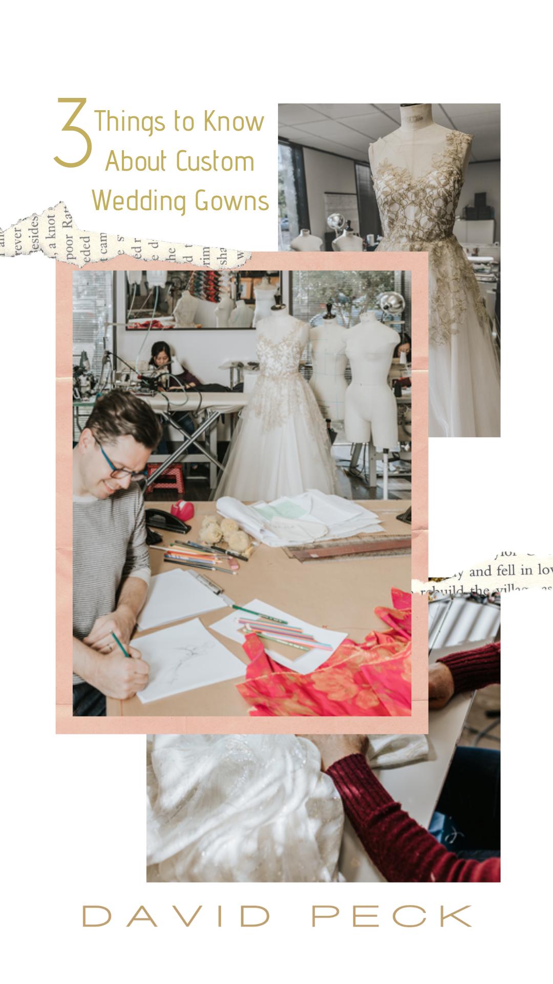 Craving Custom Wedding gowns, One shoulder wedding dress